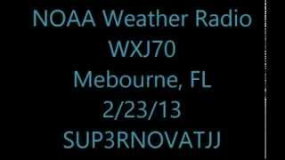 NOAA Weather Radio Broadcast Cycle- WXJ70 Daytona 500 tornado 2/23/14