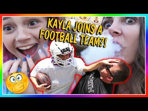 DOES KAYLA JOIN A FOOTBALL TEAM? | WE GOT DRAGON BREATH! |We
