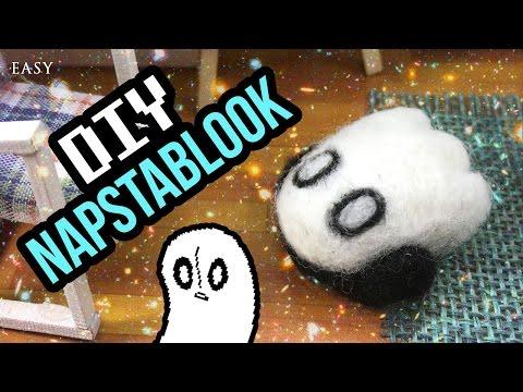 DIY Napstablook Needlefelt - For DIY Undertale Toy Dollhouse Part