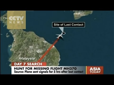 MH370 sent signals for five hours after last contact