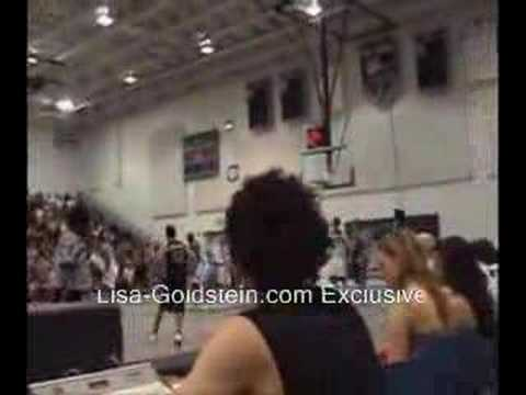 Lisa Goldstein at James Lafferty Chairty Game Sitting 2