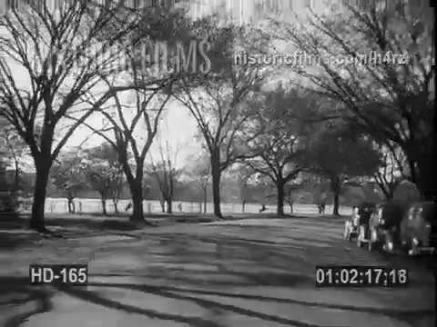 DRIVING AROUND WASHINGTON D.C. / POTOMAC PARK, 1940S