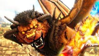 ARK Scorched Earth - MANTICORE MUTANT BOSS, WYVERN, GOLEM & GIANT MEGA DEATH WORM ( Gameplay )