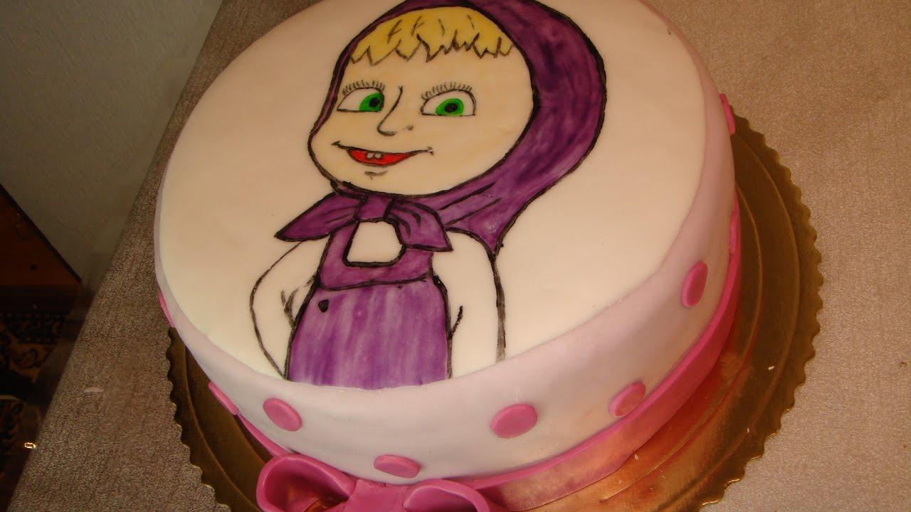 Masha And The Bear Cake How To Paint Masha Part 2 Youtube