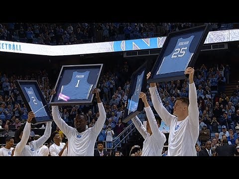 UNC Men's Basketball: 2018 Senior Class Honored Pregame