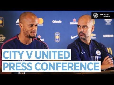 PEP GUARDIOLA WORKING ON '3 OR 4 NEW PLAYERS' | Man City v Man United | Press Conference