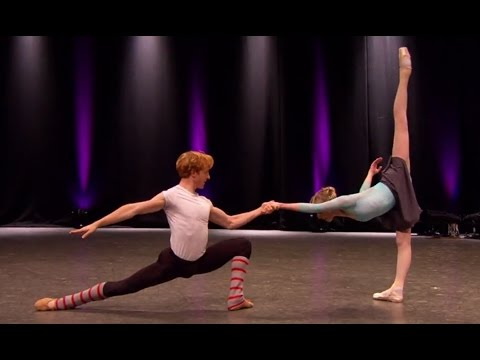 Sarah Lamb and Steven McRae rehearse 'Rubies' from Jewels (The Royal Ballet)
