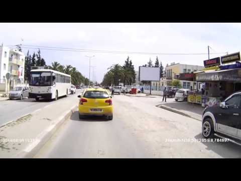 Dashcam Tunisia - Jendouba City-Drive