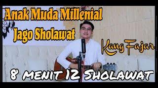 SHOLAWAT VIRAL !!! Medley 12 sholawat 8 menit by Kang Fajar   
