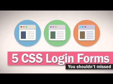5 CSS Login Form Design You Shouldn't Miss