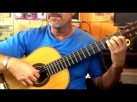 Learning the classical guitar Aguado, or arpeggio study. James Hunley guitar studio Los Angeles