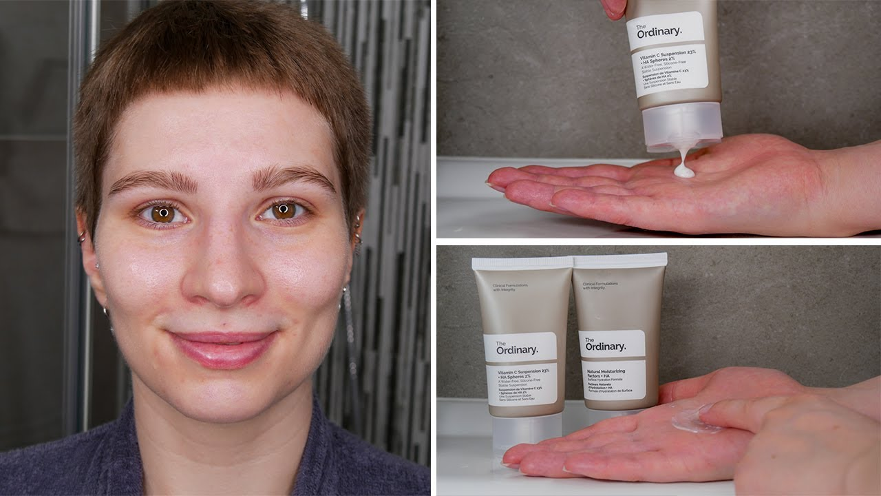 How To Use The Ordinary Vitamin C Suspension 23 Ha Spheres 2 Full Demonstration On Face Youtube