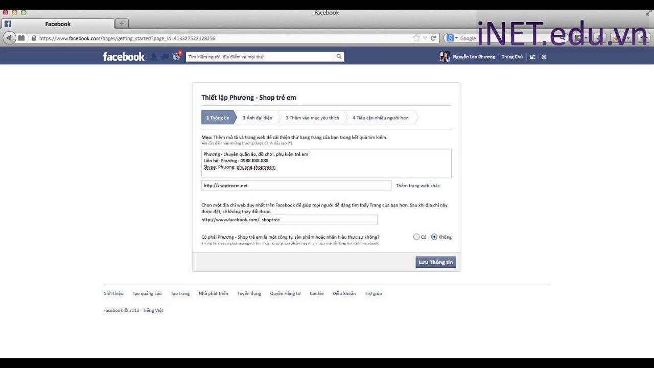 Social marketing: Bán hàng trên facebook: Bài 1: Cách tạo fanpage facebook