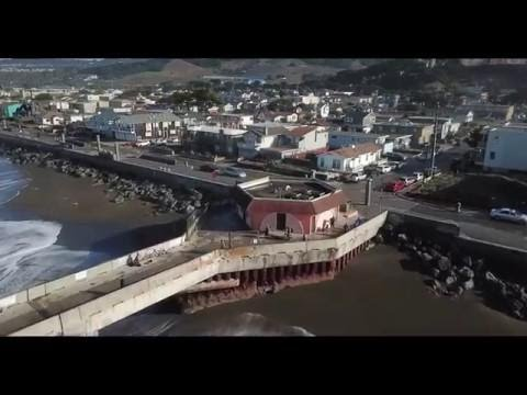 Watch: Pacifica Coastal Erosion 2018 by Drone