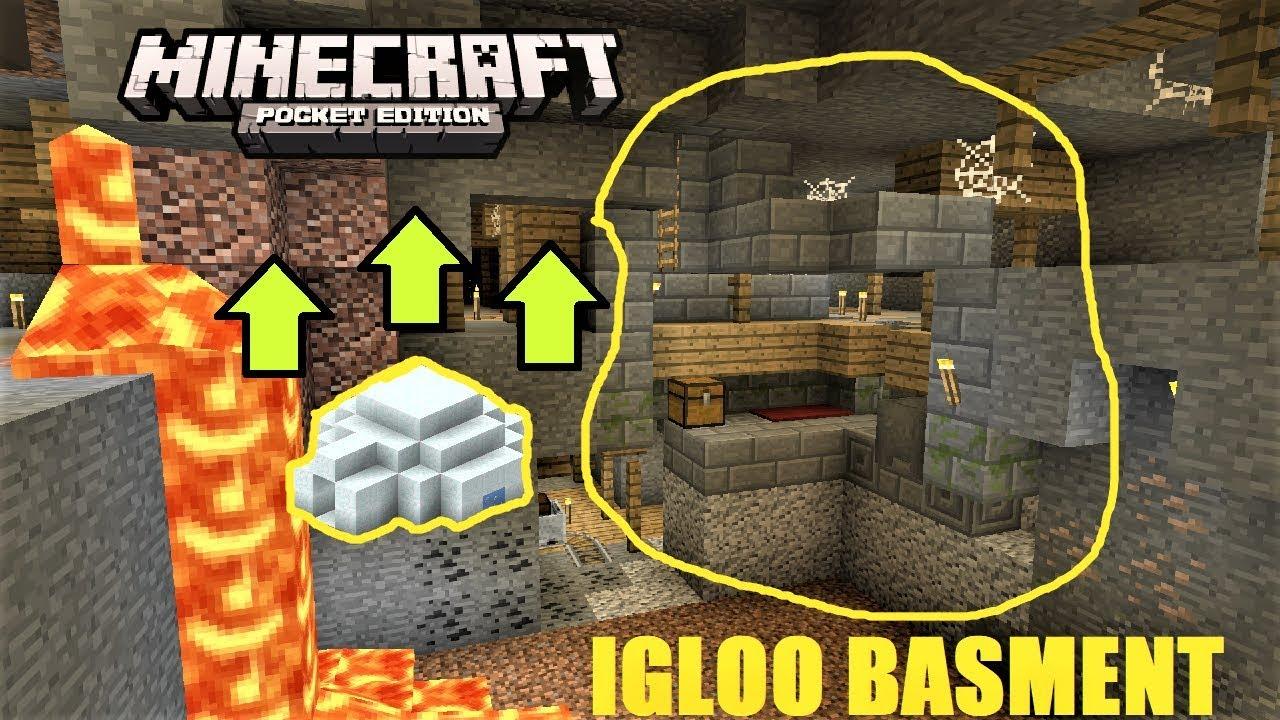 Minecraft Pe Igloo Basement Inside Double Minshaft Village Seed Mcpe 1 2 1