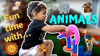 Learn Animals | Play with Animals | Animal Names | Animal Fun Play | Animal Sounds