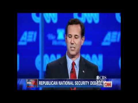 Santorum Supports Racial Profiling; Paul Shocked