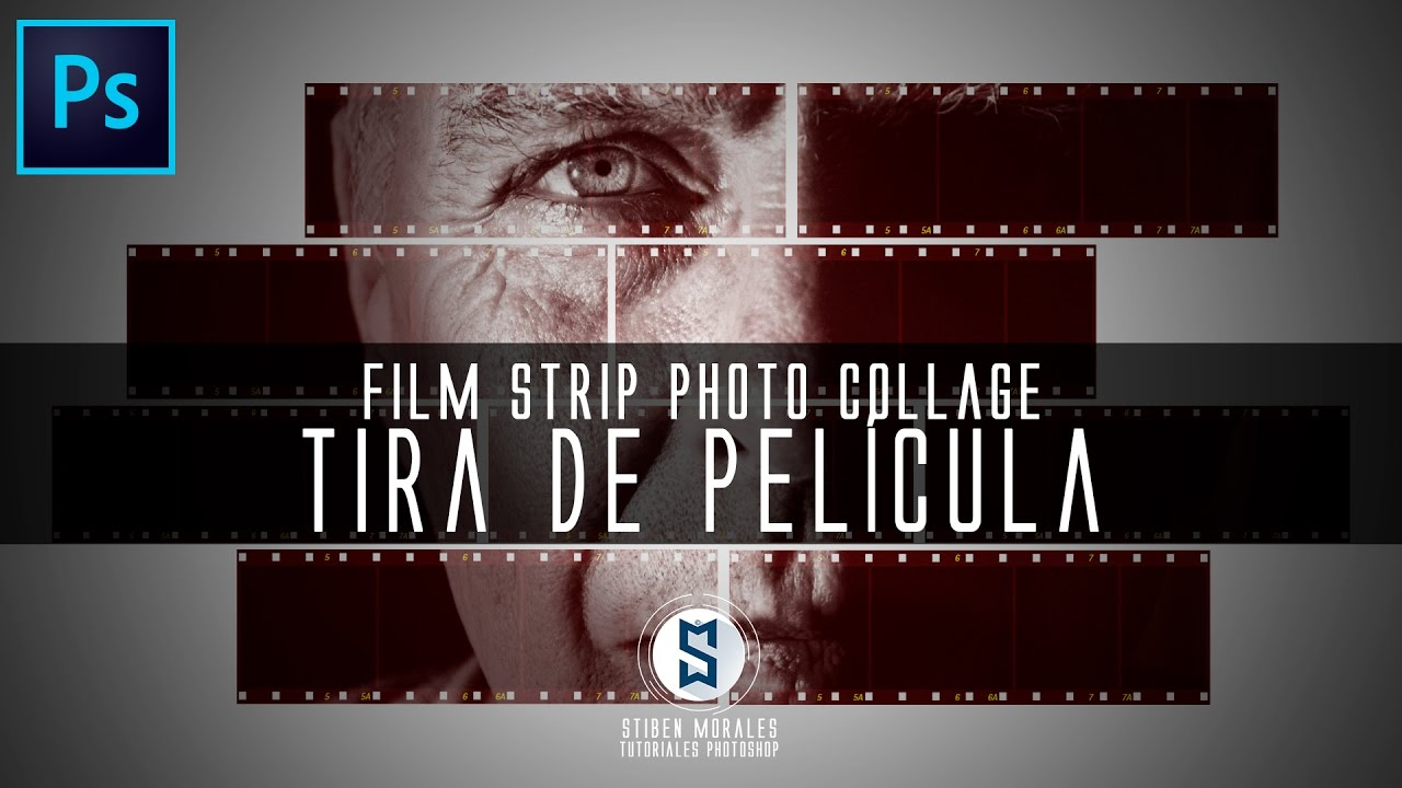 Como hacer un Film Strip Photo Collage Tira de pelicula con ...