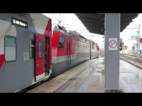 Двухэтажный поезд №36 «Северная Пальмира» Адлер – Санкт-Петербург. Электровоз 2ЭС4К-098