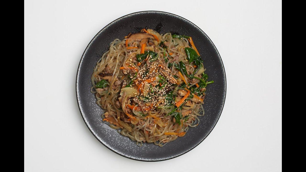 japchae recipe crazy korean Jap Chae, Stir-fried Glass Noodles (with Vegetarian Option
