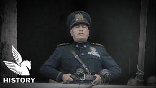 【日本語字幕】ムッソリーニ演説 - 対英仏宣戦布告