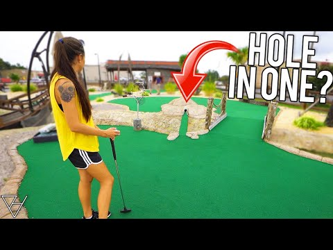 Impossible Mini Golf Hole In One Option!?