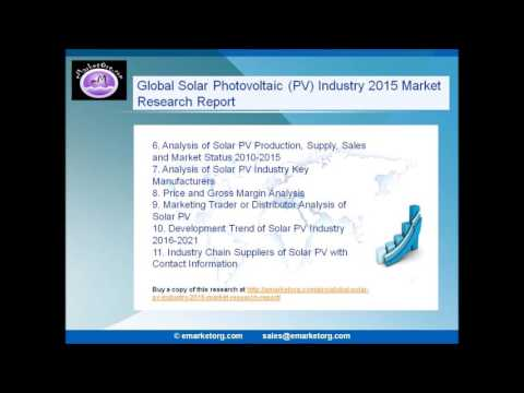 Global solar Photovoltaic (PV) industry 2015 market research report