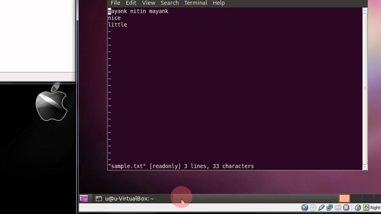 how to open vim editor in ubuntu