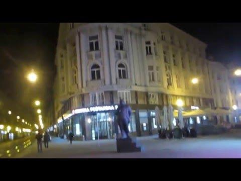 4 Croatia Travel, Zagreb Ban Jelacic Square Tram 크로아티아 자그레브 반옐라치치광장 트램