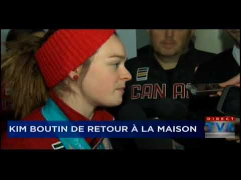 Kim Boutin arrive au Québec