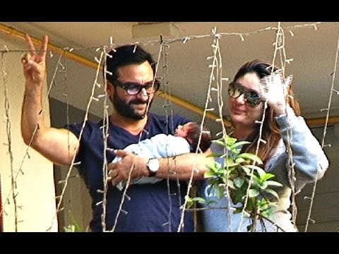 Kareena Kapoor And Saif Ali Khan Bring Taimur Ali Khan Home