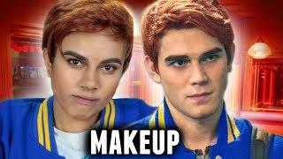archie andrews makeup tutorial   riverdale archie halloween costume idea 2017