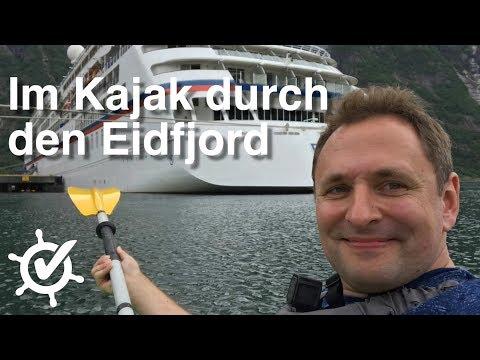 Im Kajak durch den Eidfjord - Vlog #2 - MS Europa (2018), Norwegenkreuzfahrt