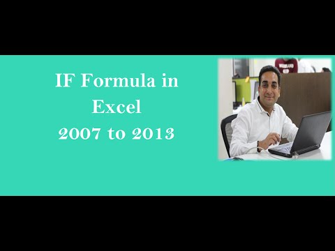 IF Formula In Excel 2007 to 2013