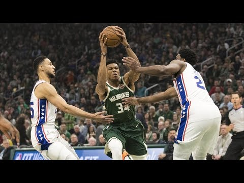Giannis Career High 52 Pts vs Embiid 40 Pts! 2018-19 NBA Season thumbnail