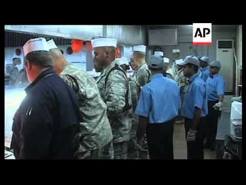 US troops stationed in Iraq celebrate Thanksgiving holiday
