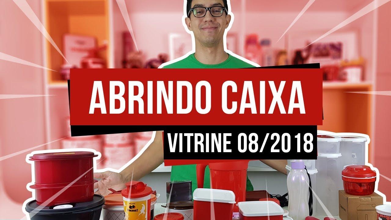 Abrindo Caixa Vitrine 08 2018 Tupperware Semana 29 Youtube