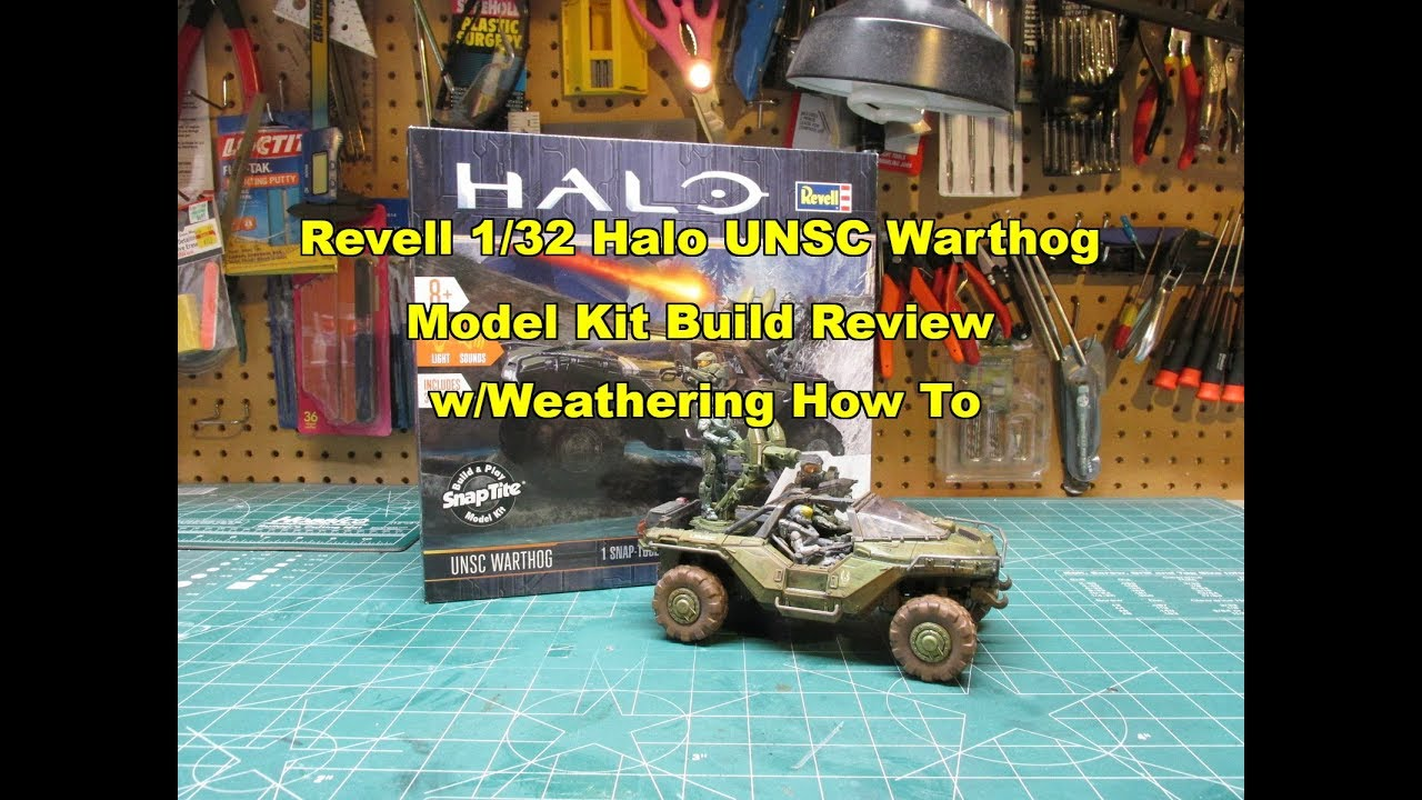 Model Scale 1:32 Revell HALO Build /& Play UNSC Warthog with Lights and Sounds