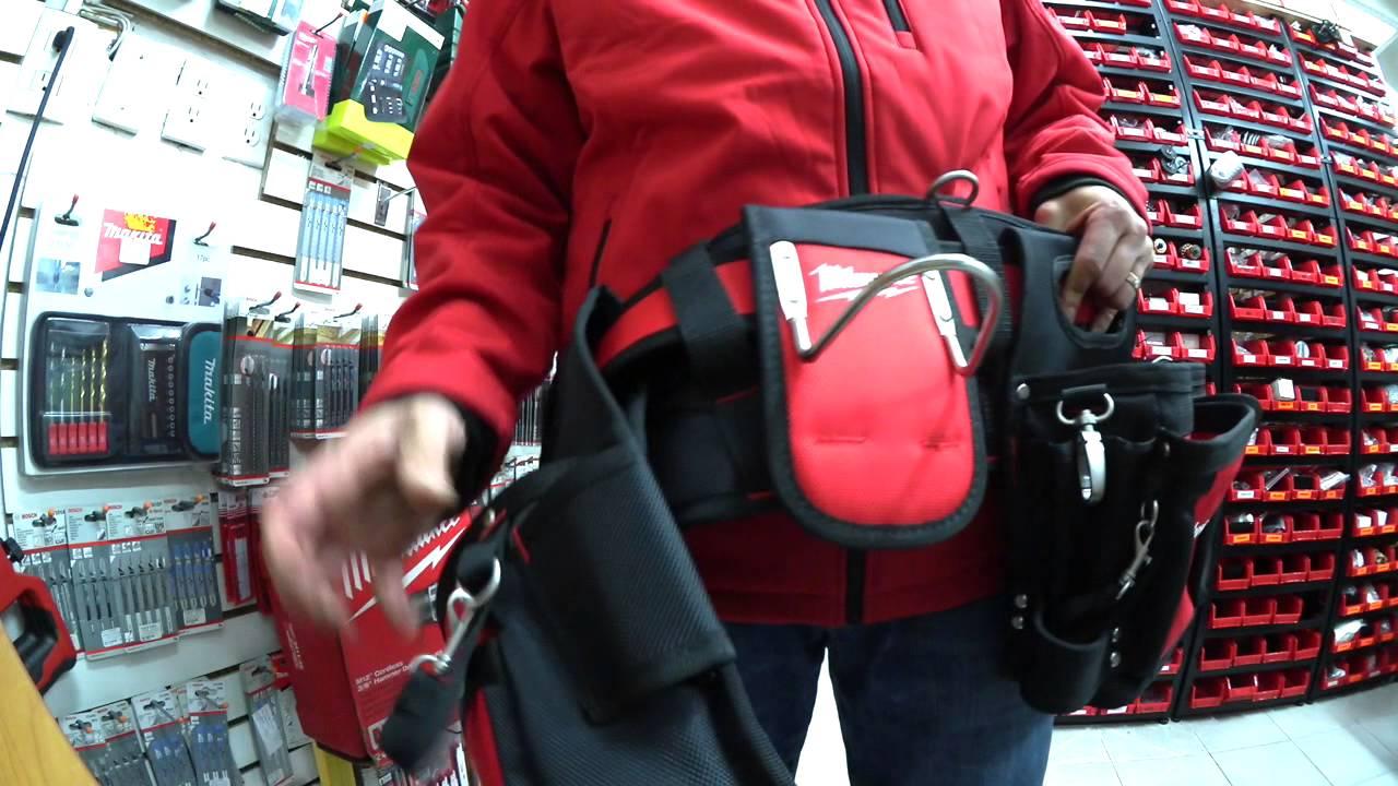 Material de oxford 600D duro y resistente al desgaste,Color Negro SYCEES Bolsa herramientas con cintur/ón para herramientas manuales y el/éctricas para electricista