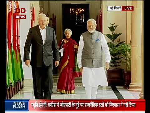 PM Modi meets President of Belarus at Hyderabad House