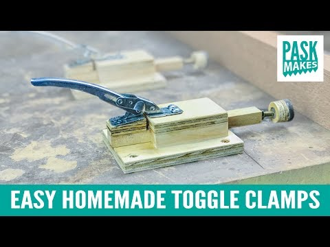 Easy Homemade Toggle Clamps  paint