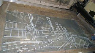 Лазерная гравировка на оргстекле. Город.(, 2016-05-05T07:46:25.000Z)