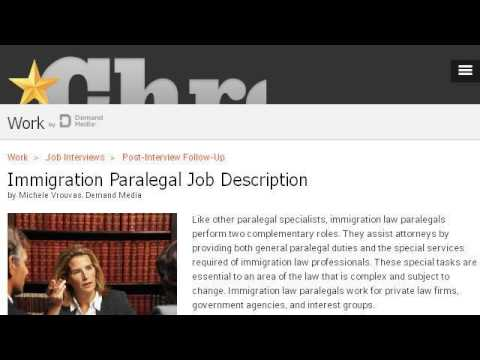 Job Description Of An Immigration Lawyer  Youtube
