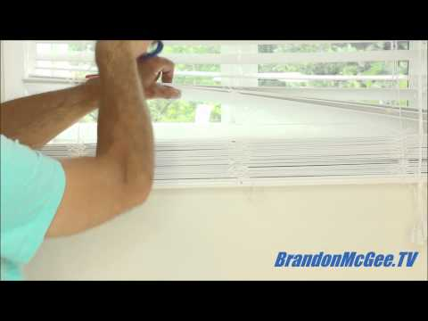 How To Shorten Window Blinds! Wood and Faux