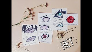Drawing All Sharingan Forms (Evolution Of Sharingan), Rinnegan Byakugan, Tenseigan and Jougan