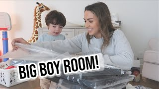 DECORATE WITH ME! TODDLER BOY ROOM   ALEX AND MICHAEL