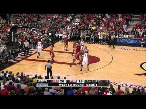 Brandon Roy 21 Points vs Rockets Game 1 Playoffs !! HD ! 18.4.09