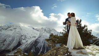 Свадьба в горах Домбая - Зимнее приключение в горах