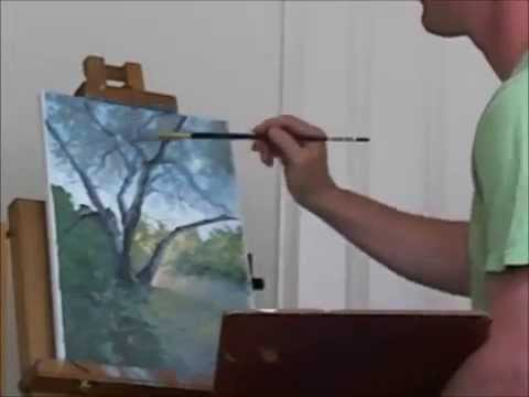 How I Paint a Tree, 10X Speed Painting Demo