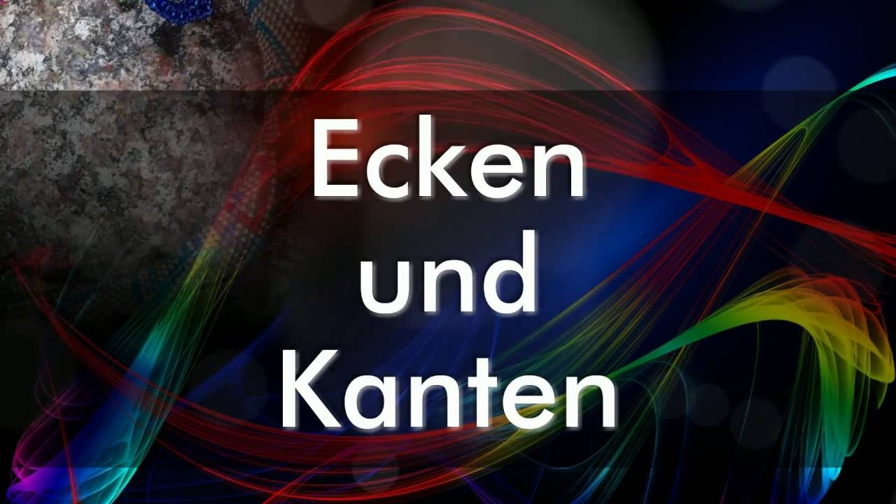 Ecken und Kanten/ Corners and Edges/ Rohy a hrany - YouTube